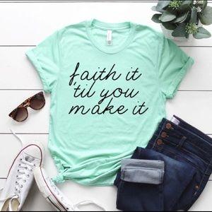 Faith TShirt - Short Sleeve Tees inc Plus Sizes
